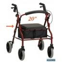 ZOOM 20 ROLLING WALKER RED