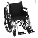 "WHEELCHAIR LTWT 16"""" FA ELVT LR"