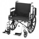 "WHEELCHAIR LTWT 20"""" FA ELVT LR"