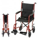 "TRANSPORT CHAIR 17"" LTWT RED"