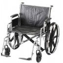 "WHEELCHAIR STL 24"""" DFA ELVT LR"