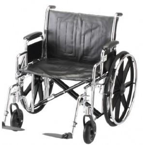 "WHEELCHAIR STL 24"""" DDA ELVT LR"