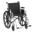 "WHEELCHAIR STL 18"""" DDA ELVT LR"