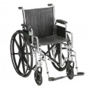 WHEELCHAIR- 16in. WITH DETACHABLE FULL ARM & ELEVATING LEG RESTS
