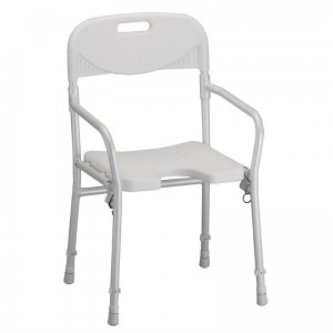 BATH CHAIR WITH ARMS-FOLDABLE