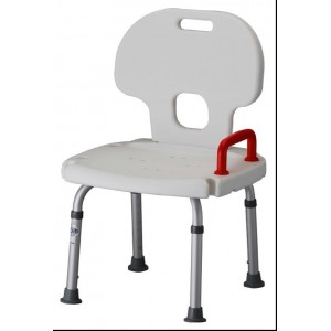 BATH SEAT WITH BACK & RED-RETAIL