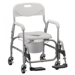SHOWER COMMODE WITHWHEELS &SA FR