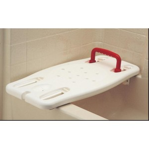 BATH BOARD WITH RED HANDLE ADJ
