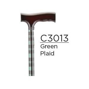 CANE FOLDING GREEN PLAID