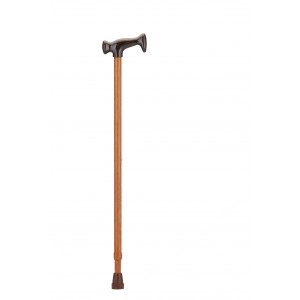 CANE T-GRIP WALNUT GRAIN